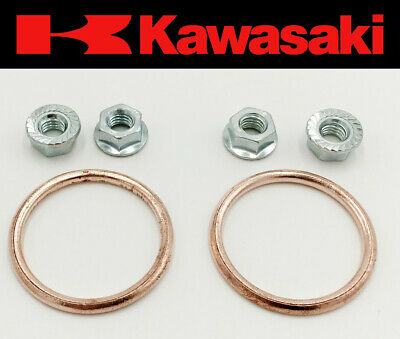 Exhaust Manifold Gasket Repair Set Kawasaki KZ 750 B1-B4 1976-1979 Twin (Nuts)