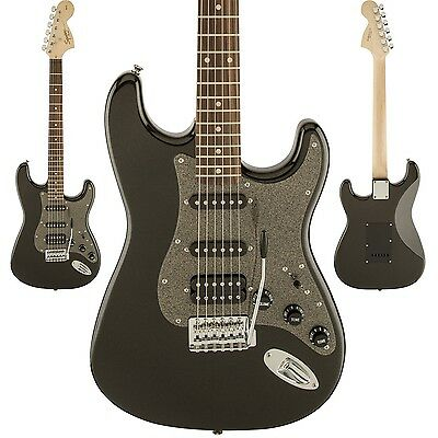 Squier Affinity Series Stratocaster HSS Electric Guitar - Montego Black Metallic