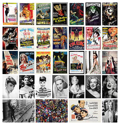 Classic Vintage Horror Movie Monroe Hepburn POSTERS OPTIONS A3 A4 BUY1GET2FREE