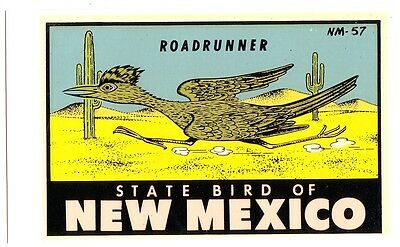 1950s-1960s ROADSIDE - TRAVEL DECAL - NEW MEXICO State Bird in Original Envelope