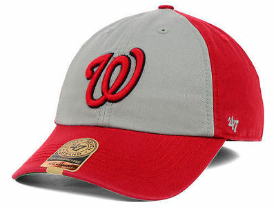 low priced 3d727 3bb7a WASHINGTON NATIONALS 47 Brand MLB VIP Hat Red Grey ( 30) FRANCHISE Slouch  CAP W