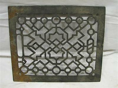 Cast Iron Floor Art Deco Register Heat Grate Vent Grille Architectural 8 X 10 J