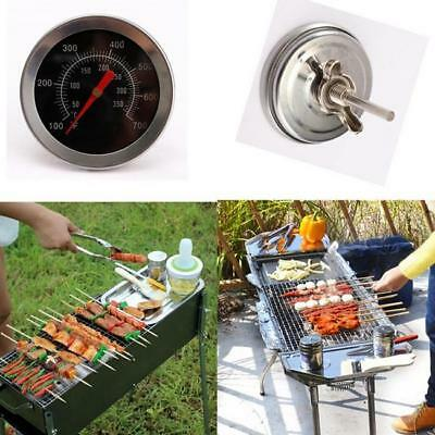 Barbecue Pit Smoker BBQ Grill Thermometer Temperature Gauge 100°F to 700°F LJ
