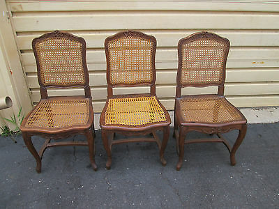 54271  Set of 3 matching 19th Century Side Chairs