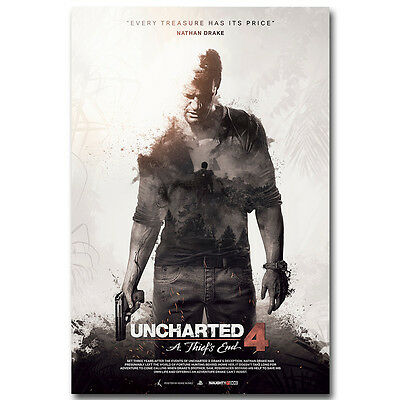 10th Anniversary Key Art Uncharted 4 Poster High Quality Prints