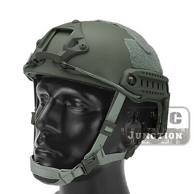 Emerson Tactical Fast Helmet MICH Ballistic Type Advanced w/ NVG shroud + Rails