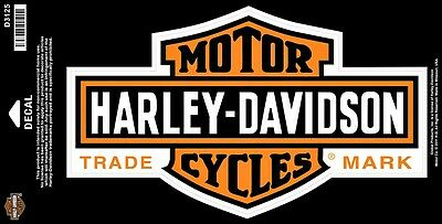 "Harley-Davidson® Large Classic Orange Bar & Shield Logo Decal 10.25""x6"" D3125"