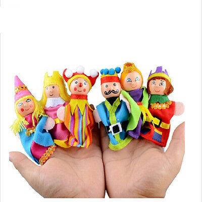 6pcs Finger Puppets Set Educational Puppet Christmas Gift Toy Kids Animal Hand