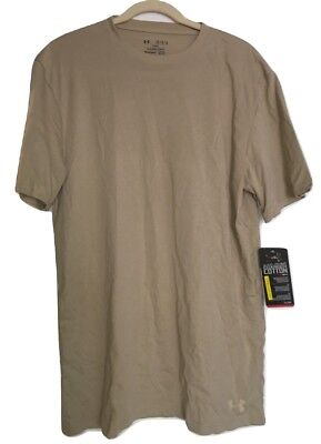 Under Armour 1234237 290 UA Tactical Charged Cotton T-shirt Desert Sand Large