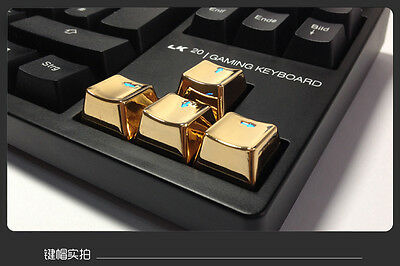 UQ Mechanical Keyboard Transparent Up Down Left Right Keycaps Gold For Cherry MX