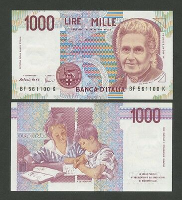 ITALY - 1000 lire  1990  P114c  Uncirculated  ( Banknotes )