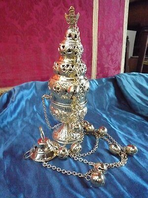 Thurible / Censer with Bells Orthodox High Catholic Style Brass
