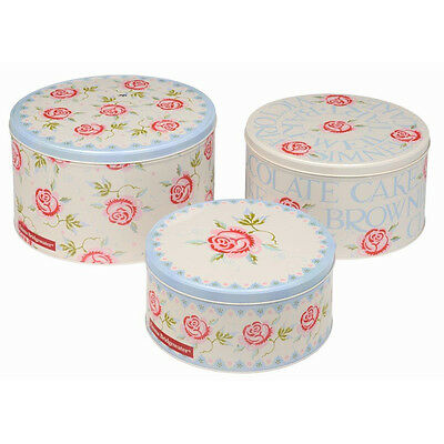 Emma Bridgewater Rose & Bee Set of 3 Round Cake Tins