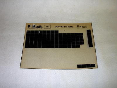Kawasaki Ex250 Ex 250 H1  (Zz-R250) Gen Part Catalogue Microfiche
