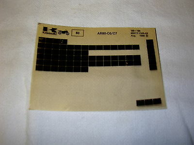 Kawasaki Ar80 Ar 80 C6/c7 Gen Part Catalogue Microfiche