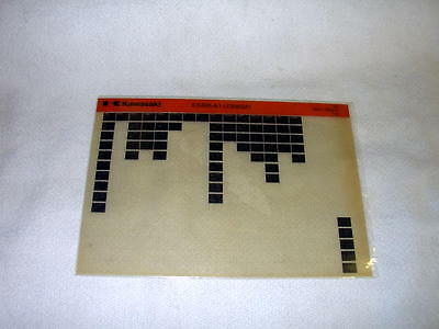 Kawasaki Ex305 Ex 305 A1  (Z305Gp) Gen Part Catalogue Microfiche