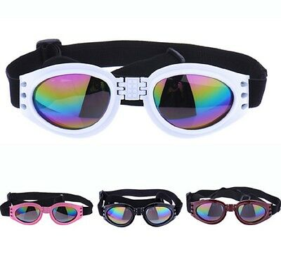 Dog Goggle Sunglasses Foldable Eye Protection Sun Wind Eyewear Pet Glasses UK