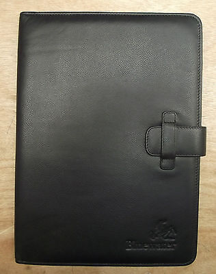 A4 leather folder with Bluewater  logo (style 228)