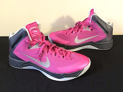 Nike Zoom Hyperquikness New Women 13 Men 11 Pink Breast Cancer Ribbon 603514 600