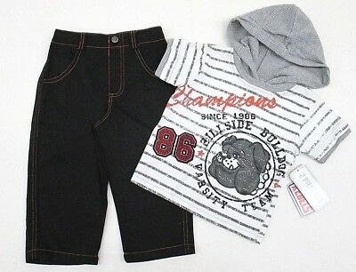 Toddler Boys clothes Hoodie Shirt Denim Pants Outfit Set Kids Size 2T 3T 4T new