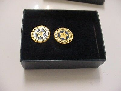 vintage pair united states postal inspection service cufflinks