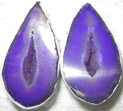 BEAUTIFUL PAIR OF AGATE Crystal *LOVE CAVES* 5x2.5cms Geodes / A1++ GRADE