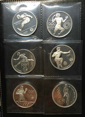 Paraguay 150 Guaranies 1972 Silver Six coin Proof set Munich Olympics
