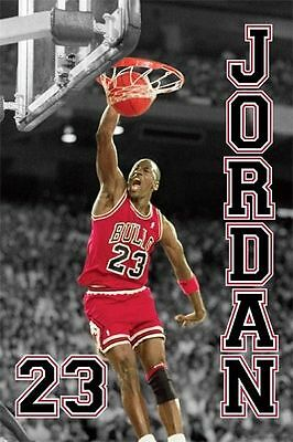 Michael Jordan Jump - Chicago Bulls - NBA Basketball Poster - New Licensed