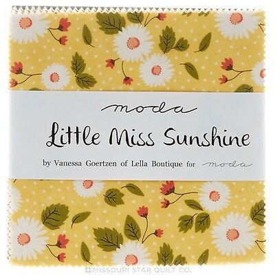 Patchwork/quilting Fabric Moda Charm Squares/packs - Little Miss Sunshine