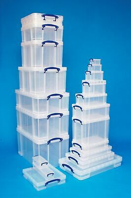 Sizes 33 - 84 Litre Really Useful Boxes Clear Storage Box - Underbed A3 Files 7""