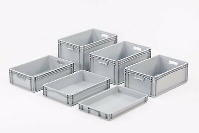 Euro Storage Containers - 14 sizes - Stackable Box Plastic Crate Boxes Tray