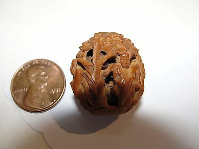 Antique Chinese Coquilla Nut Impresive Hediao Immortals Or Buddha Face & Body