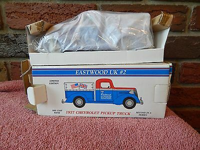 Eastwood UK #2 1937 Chevrolet Pickup Truck Chevy Die Cast Bank DieCast - NEW