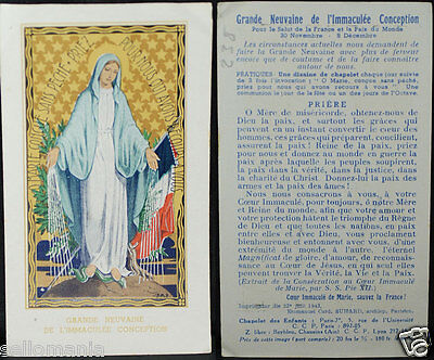 Old Blessed Great Novenma Immaculate Conception 1943 Holy Card Santini     Cc866