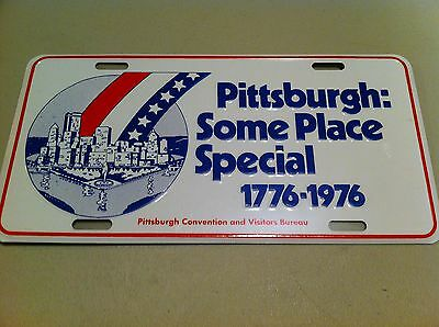 Vintage 1976 Pittsburgh Pennsylvania PA Bicentennial License Plate Still Sealed