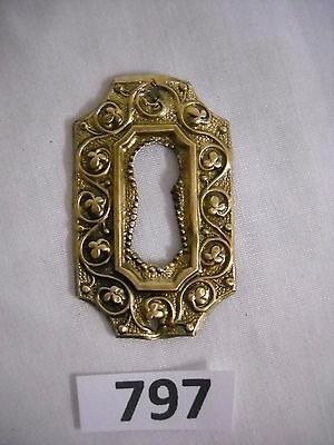 Antique Ornate Stamped Keyhole Cover