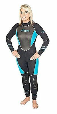Womens storm wetsuit sports diving wetsuit offers more efficiency, size 10, Teal