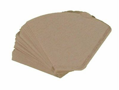 120 unbleached coffee filter papers for coffee machines & coffee cones, size 102