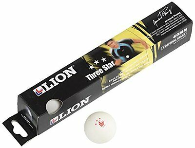 Lion 3 star table tennis balls to achieve the perfect bounce - white, 40mm