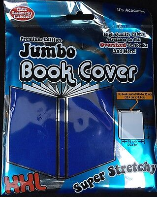 Premium Edition XXL Book Covers Blue Stretch Fabric New in Package