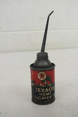 Antique 1960's Miniature Texaco Home Lubricant Oil Can Satisfaction Guaranteed