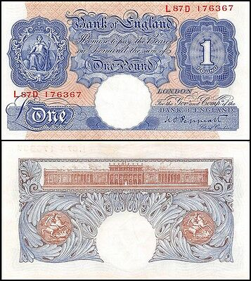 Great Britain (British) England 1 Pound, 1940-48, P-367a, UNC