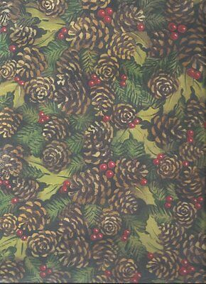 2 Sheets HOLLY and BERRIES Christmas 12 x 12 Scrapbook Paper