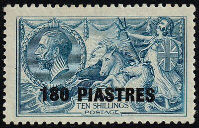 British Levant 1921 180pi. on 10s. dull grey-blue, MH (SG#50)
