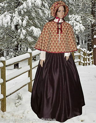 Ladies Victorian American Civil War 3pc gentry costume fancy dress size 20-26 B1