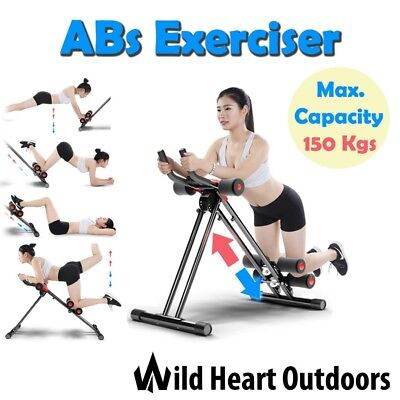 AB bike Training Cruncher Twister Abdominal Workout Exercise 6 Pack Core Gym Fit
