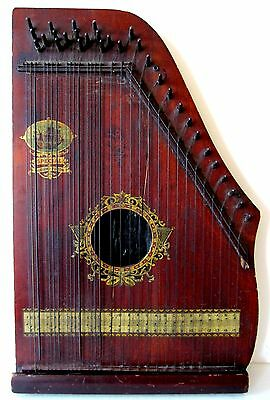 Antique Oscar Schmidt Menzenhauer No. 2 Guitar Zither Sp. Ed. Hudson Fulton