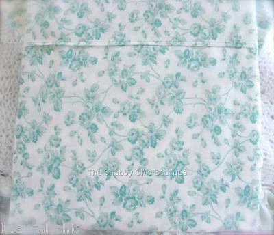Hamptons Floral Rose Aqua Green Full Queen Size Bed Quilt Cover Doona Duvet New