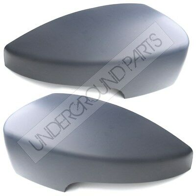 Pair Right Left Side Door Wing Mirror Covers Cap Case Primed Ford Kuga 2013-2016