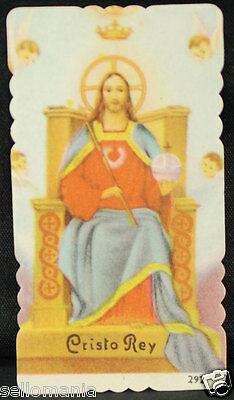 Old Blessed Christ The King Holy Card Andachtsbild Santini Estampa         Cc898